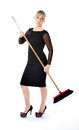 Business woman desperate housewife Royalty Free Stock Photo