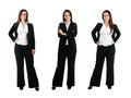 Business woman in different poses isolated on white Stock Photography
