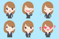 Business woman do emotions