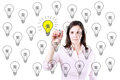 Business woman drawing a great idea concept Stock Photography