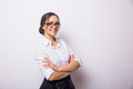Business woman with eyeglasses Royalty Free Stock Photo