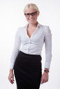 Business woman in glasses Stock Image
