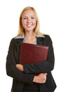 Business woman going to job interview young holding files a Stock Photography
