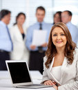 Business woman with a group Royalty Free Stock Photos