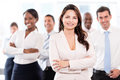 Business woman with a group successful women leading at the office Stock Photography