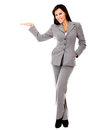 Business woman with hand extended Royalty Free Stock Image