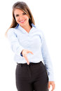 Business woman handshaking Royalty Free Stock Photo