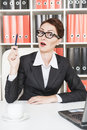 Business woman have the idea in glasses having an Royalty Free Stock Image