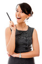 Business woman having an idea Royalty Free Stock Images