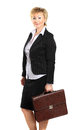 Business woman in her s portrait background Stock Photos
