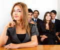 Business woman and her team Royalty Free Stock Photos