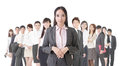 Business woman and her team attractive asian women Stock Photo