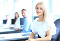 Business woman with her team women at the office Royalty Free Stock Images
