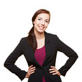 Business woman holding her arms Stock Photos