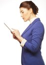 Business woman holding a tablet computer Stock Photo