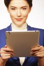Business woman holding a tablet computer Stock Image