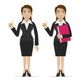Business woman holds finger up illustration format eps Stock Photo