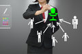 Business woman (hr) selected person talent Royalty Free Stock Photo