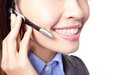 Business woman lips with microphone Stock Photography