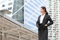 Business woman look something serious photo of Stock Photography