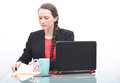 Business woman looking at file Royalty Free Stock Photo