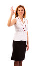 Business woman  make ok gesture Stock Photo