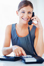 Business woman making calls Royalty Free Stock Images