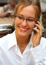 Business woman making a phone call. Royalty Free Stock Photography