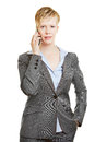 Business woman making phone call with smartphone young a her Royalty Free Stock Images