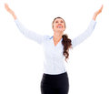 Business woman with open arms Stock Image