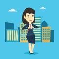 Business woman opening her jacket like superhero. Royalty Free Stock Photo
