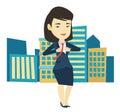 Business woman opening his jacket like superhero. Royalty Free Stock Photo