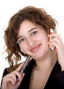 Business woman on the phone Royalty Free Stock Photos