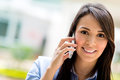 Business woman on the phone casual talking Royalty Free Stock Photos