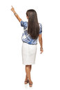 Business woman in pointing at copy space Royalty Free Stock Photo