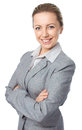 Business woman portrait, crossed arms Royalty Free Stock Photo