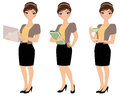 Business Woman Pose Set