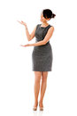 Business woman presenting something Royalty Free Stock Images