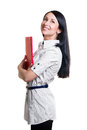 Business woman with red folder Stock Image
