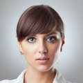 Business woman's face Royalty Free Stock Image
