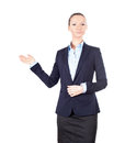 Business woman showing something Royalty Free Stock Photography