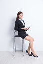 Business woman sit