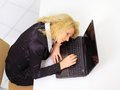 Business woman sleeping at a desk Stock Images