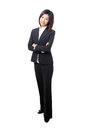 Business woman smile and cross arms Royalty Free Stock Photo