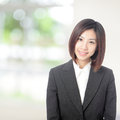 Business woman smile portrait Royalty Free Stock Images