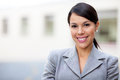 Business woman smiling Royalty Free Stock Photo