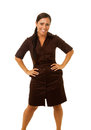 Business woman smiling with hands on hips Royalty Free Stock Photo