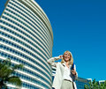 Business woman speak on the phone Stock Photography