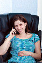 Business woman speaking on cell phone Stock Photos