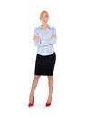 Business woman standing serious Royalty Free Stock Photo